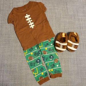 Baby Football Pajama Set
